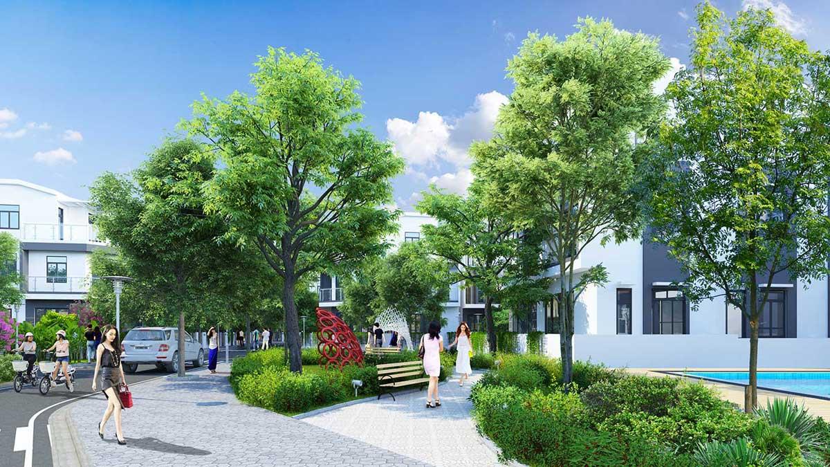 khu cây xanh tại dự án Qi island bình dương