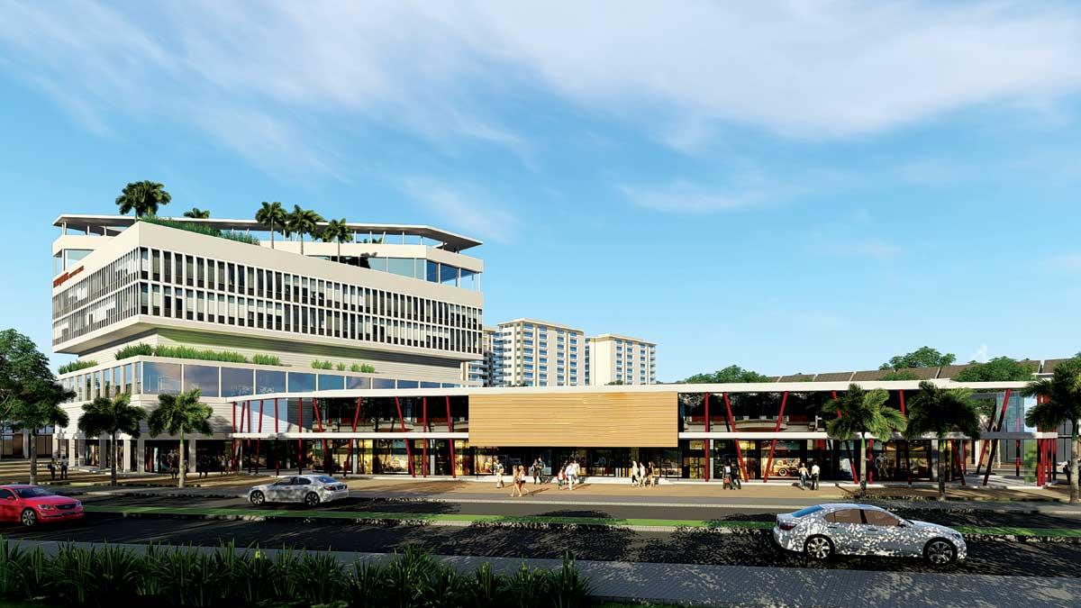 khu trung tâm thương mại tại dự án qi island bình dương