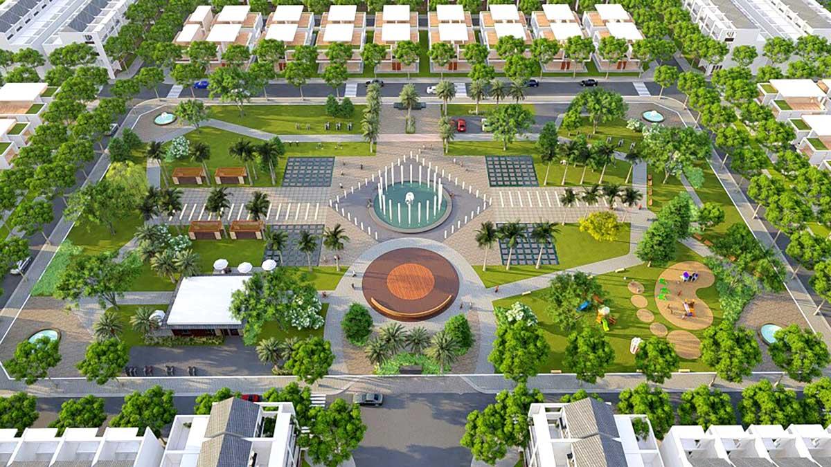 công viên tại dự án qi island bình dương
