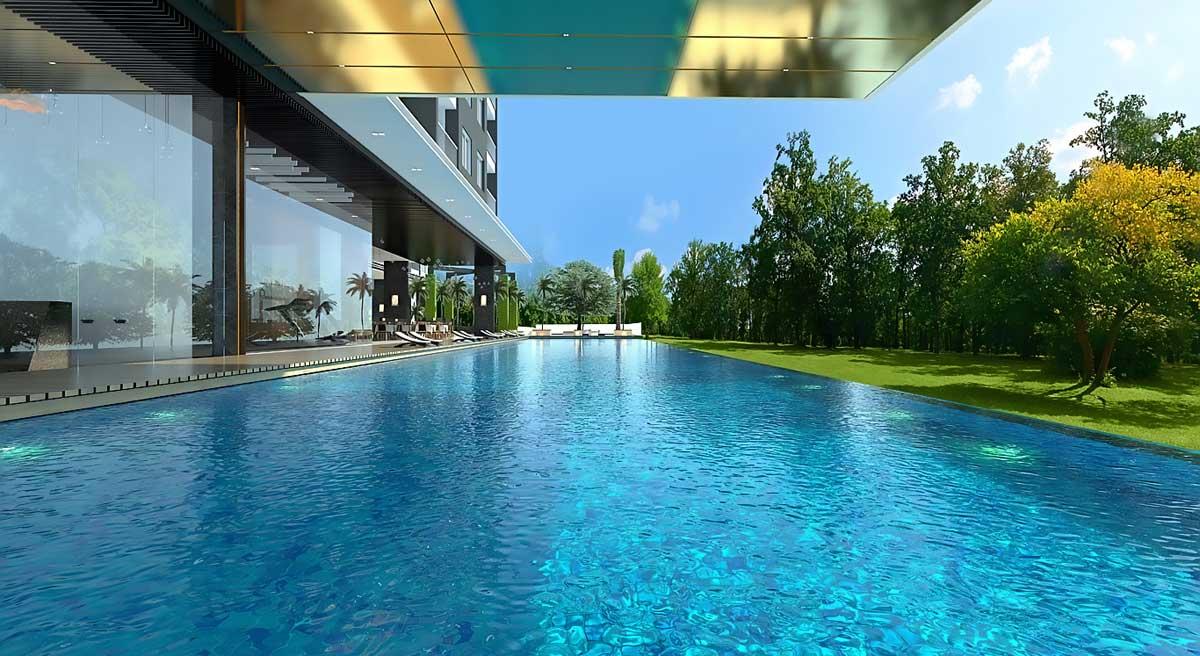 hồ bơi tràn tại căn hộ minh quốc plaza